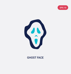 two color ghost face icon from general concept vector image