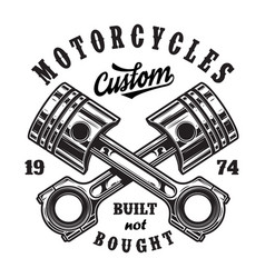 Vintage motorcycle workshop logo vector
