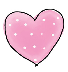 watercolour heart for valentines day vector image