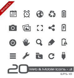Web and mobile icons-3 - basics vector