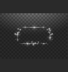 white frame with lights effectsshining luxury vector image