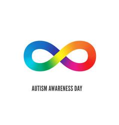 world autism awareness day symbol vector image