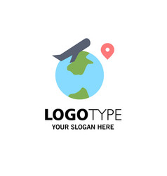world location fly job business logo template vector image