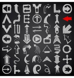 49 hand draw sketch arrow element collection icons vector image vector image