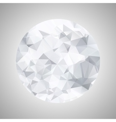 Abstract black and white sphere polygonal vector image