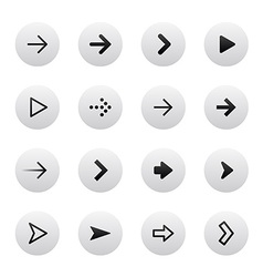 Arrow sign icon set Gray stylish clean and modern vector image