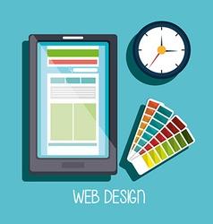 Computer web design vector image vector image