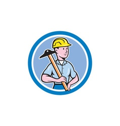 Engineer Architect T-Square Circle Cartoon vector image vector image