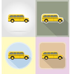 old retro transport flat icons 13 vector image vector image