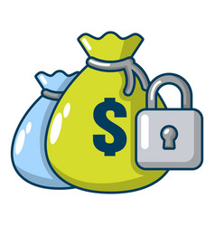insurance money icon cartoon style vector image vector image