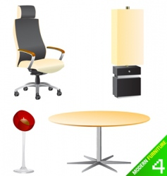 modern furniture vector image vector image