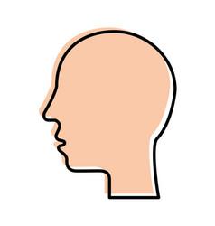 silhouette human head profile man image vector image