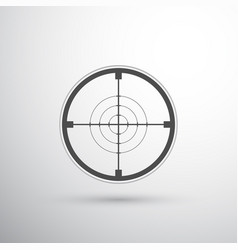 sniper scope target vector image