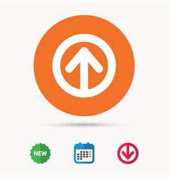 upload icon load internet data sign vector image