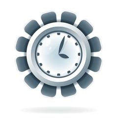 Creative clock icon vector image vector image