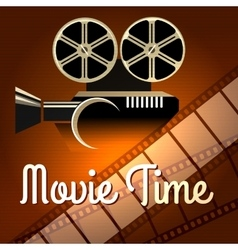 Movie time poster vector image