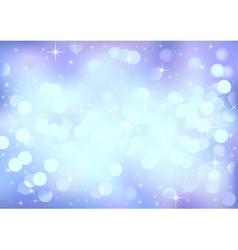 Blue winter festive lights background vector image vector image