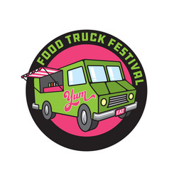 food truck cartoon vector image
