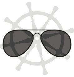 sunglasses and helm vector image vector image