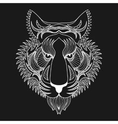white Tiger Zentangle Tiger face vector image vector image