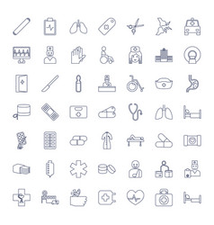 49 hospital icons vector