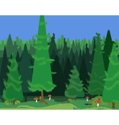 Abstract spruce forest landscape vector