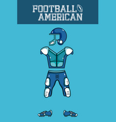 american football armour vector image