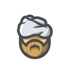 arabic beard men icon cartoon vector image