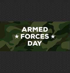 Armed forces day vector