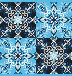 azulejo tile seamless pattern vector image