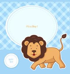 baby shower invitation card design vector image