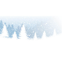 backdrop with winter forest vector image