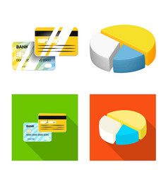 Bank and money icon vector