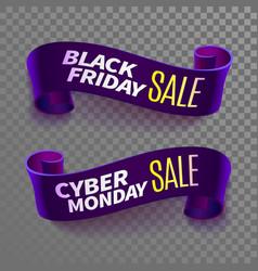 black friday sale ribbon vector image