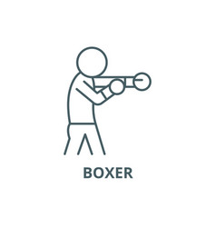 boxer line icon boxer outline sign vector image