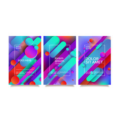 business geometric design templates vector image