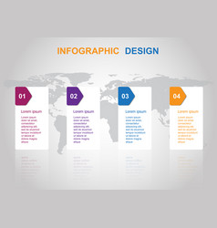 business infographic design template with banners vector image