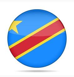 Button flag - democratic republic congo vector