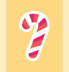 Candy stick stripped dessert vector