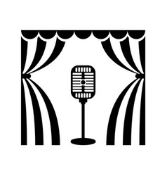 Cinema theatre microphon vector