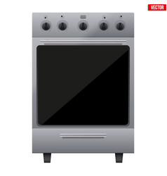classic kitchen stove vector image