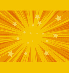 comic book superhero background yellow and orange vector image