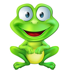 Cute frog character vector