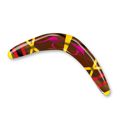 Decorated boomerang vector