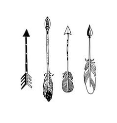 decorative hand drawn arrows vector image