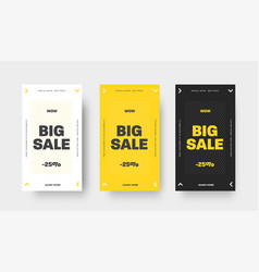 design black white and yellow web banner vector image