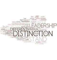 Distinction word cloud concept vector