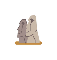 Easter island landmark vector