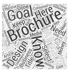 Effective Brochure Design Word Cloud Concept vector image