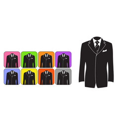 elegant mens suits vector image